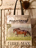 Upcycled Horse Feed Shoulder Bag - Poulin - E TEC
