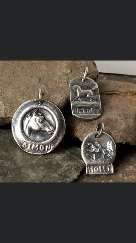 Sterling Silver Personalized Horse Pendant