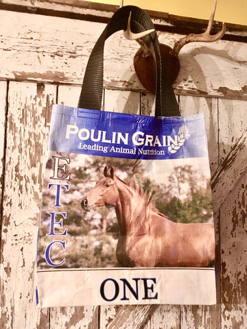 Upcycled Horse Feed Shoulder Bag - Poulin E-TEC