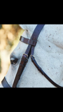 Classic Flat Fox-hunting Bridle with Matching Laced Reins