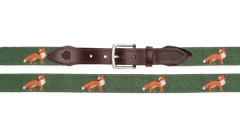 Fox Needlepoint Belt