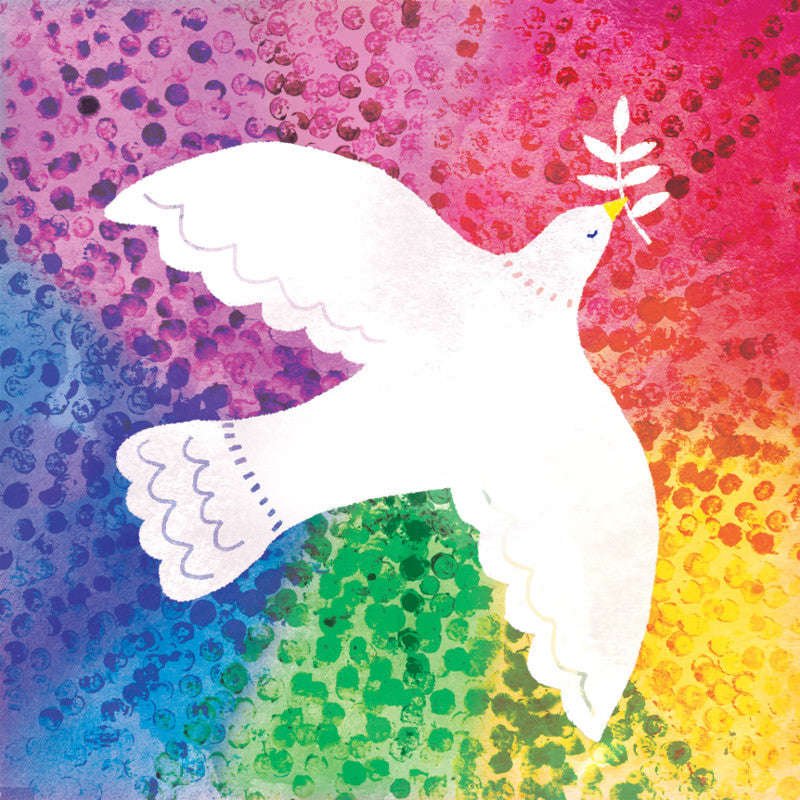 Amnesty Rainbow Dove Christmas Card - Amnesty International Ireland