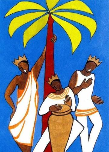Three Kings Sing, a Design by Paula Cox – Vintage Card - Amnesty International Ireland