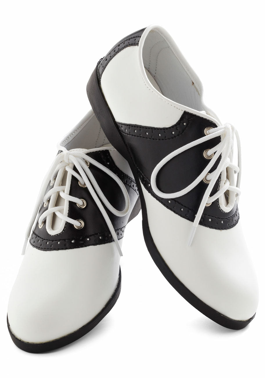 Mens Black And White Saddle Shoes