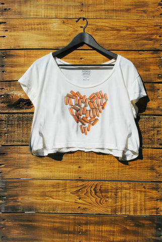 Bullet Heart Crop Top