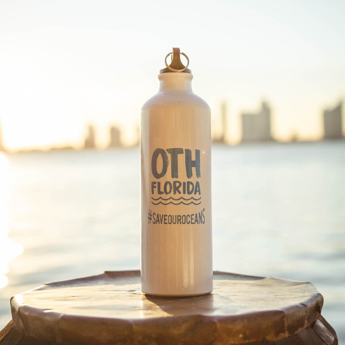 OTHFL Aluminum Water Bottle - White