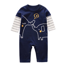 Load image into Gallery viewer, Blue Elephant Romper