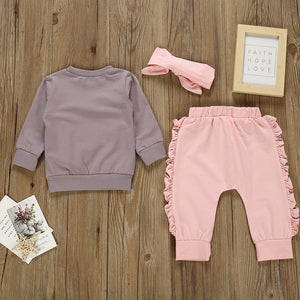 Heart Sweat Suit Girls Outfit Set