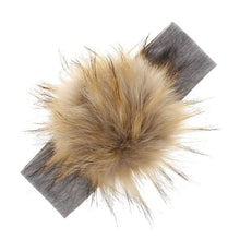 Load image into Gallery viewer, Furry Pom Headband (multiple colors available)