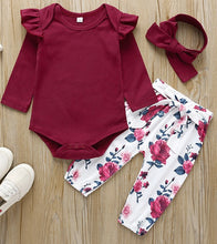 Load image into Gallery viewer, Flysleeve Onesie with Floral Pants