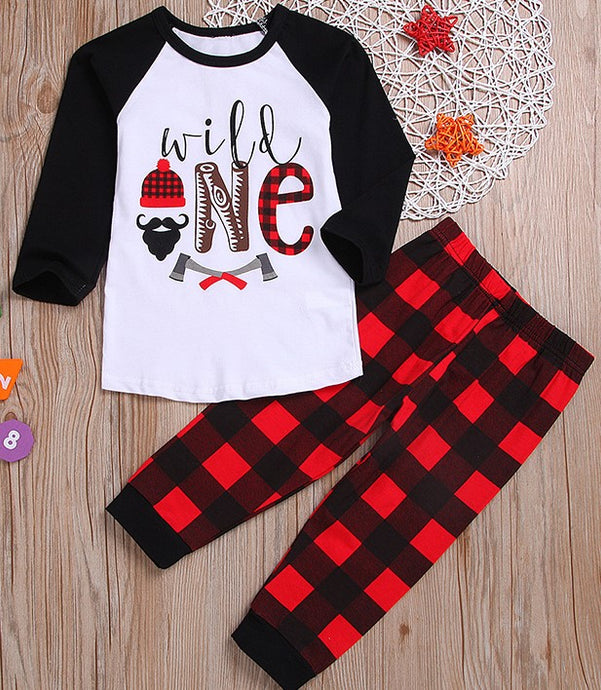 Wild One Plaid Print Outfit