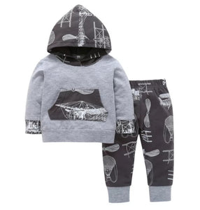 Airplane Boys Outfit Set