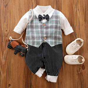 Bowtie and Vest Romper