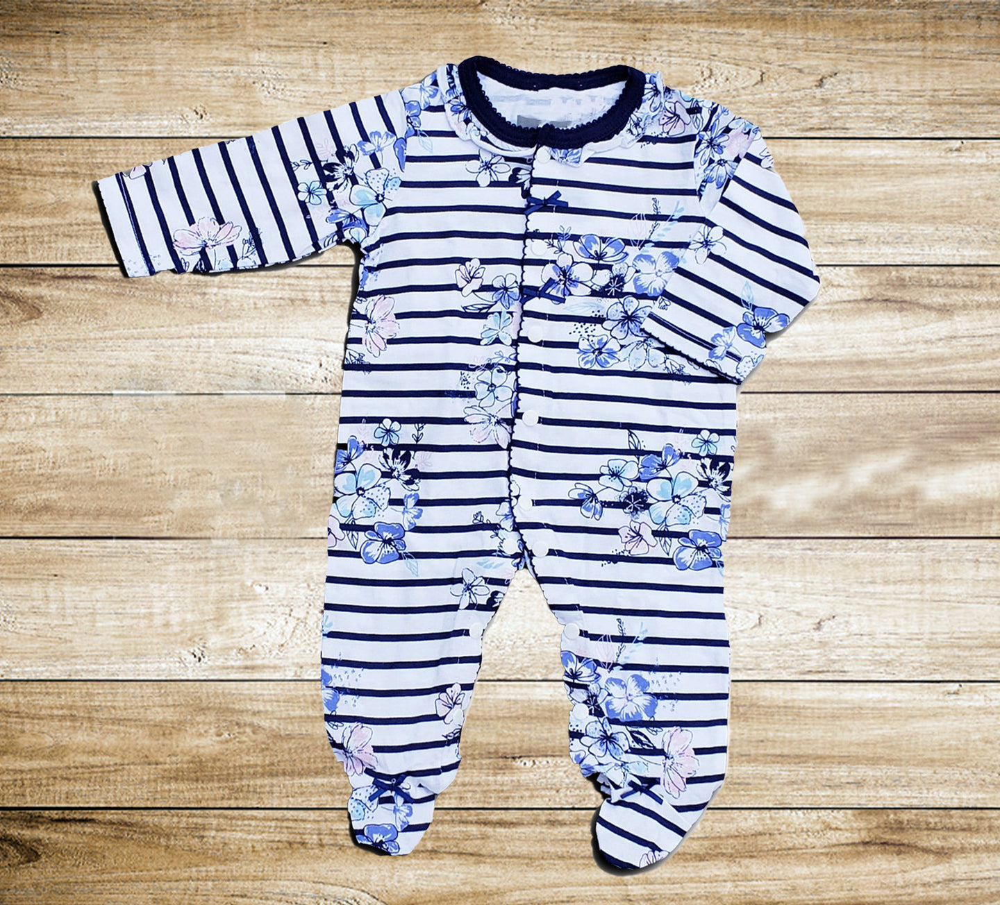Baby Romper Floral Footies