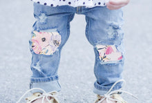 Load image into Gallery viewer, Custom Patchwork Jeans (multiple denim and fabric selections)