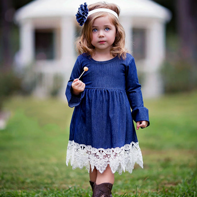 Denim and Lace Dress