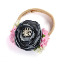 Load image into Gallery viewer, Floral Headbands and Pony Tails (multiple color options)
