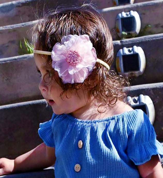 Floral Headbands and Pony Tails (multiple color options)