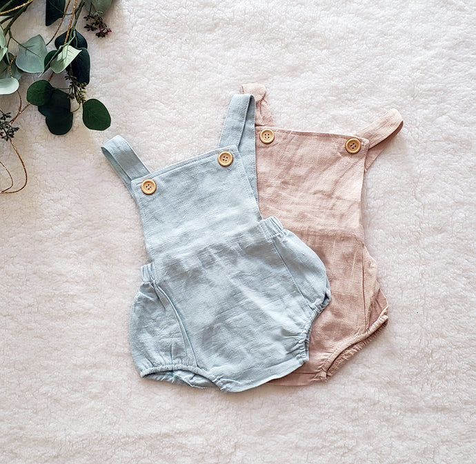 Cotton Overall Bubble Romper (multiple color options)