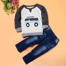 Load image into Gallery viewer, Car Long Sleeve T-Shirt with Jeans Outfit