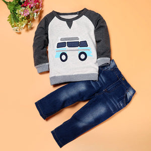 Car Long Sleeve T-Shirt with Jeans Outfit