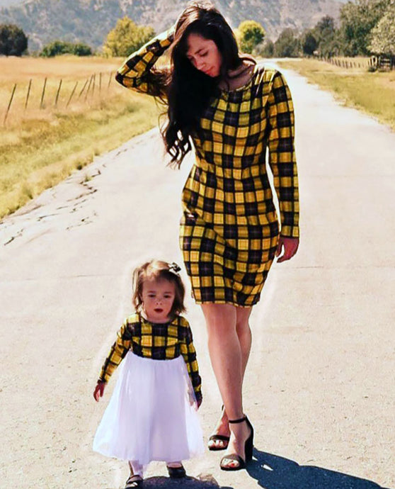 Plaid Mommy and Me Dresses