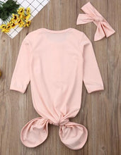 Load image into Gallery viewer, Pink Knot Tie Mermaid Onesie with Headband