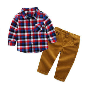 Flannel and Corduroy 2 Piece Outfit