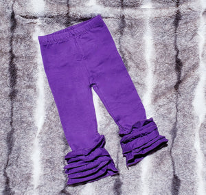 Ruffle Icing Leggings (multiple color selections)