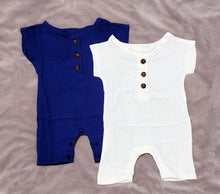 Load image into Gallery viewer, Solid Cotton Romper (multiple color options)