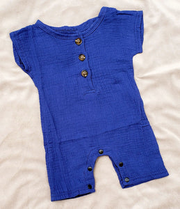 Solid Cotton Romper (multiple color options)