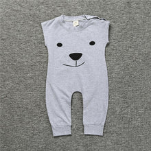 Load image into Gallery viewer, Sleeveless Bear Face Romper