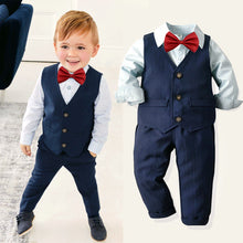 Load image into Gallery viewer, Special Occasion Boys 3 Piece Suit with Bowtie (multiple color options)