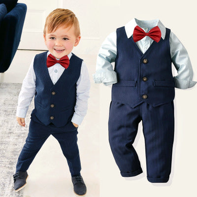 Special Occasion Boys 3 Piece Suit with Bowtie (multiple color options)
