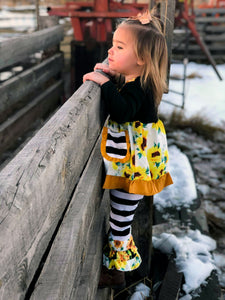 Sunflowers Ruffles and Stripes Outfit