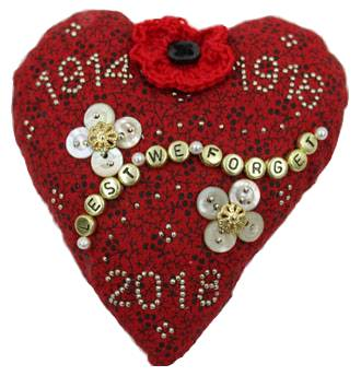 WWI Anniversary Sweetheart Pincushion