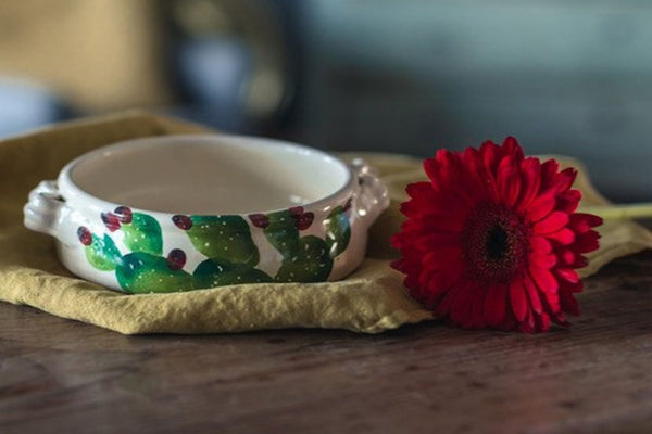 Cactus - Hand Painted Soup & Pasta Bowl