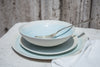 Acquarello - 3-Piece Porcelain Dinner Set with Watercolor Effect