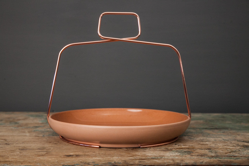 orange ceramic bowl