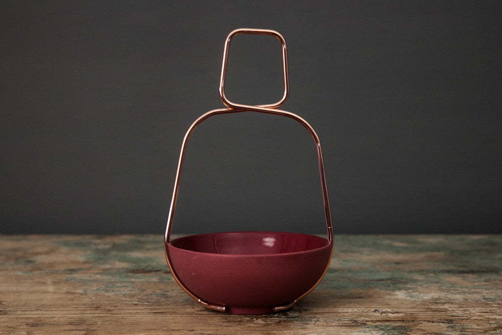Red Ceramic Bowl