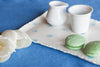 VassoPois - Handmade Porcelain Tray with Indigo Dots