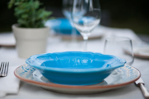 Azzurro-Handmade Ceramic Dinner Set