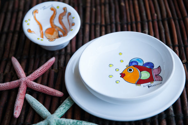 Octo - Hand-Painted Ceramic Dinner Set
