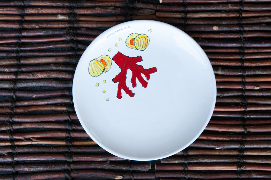 Octo - Hand-Painted Ceramic Dinner Plate