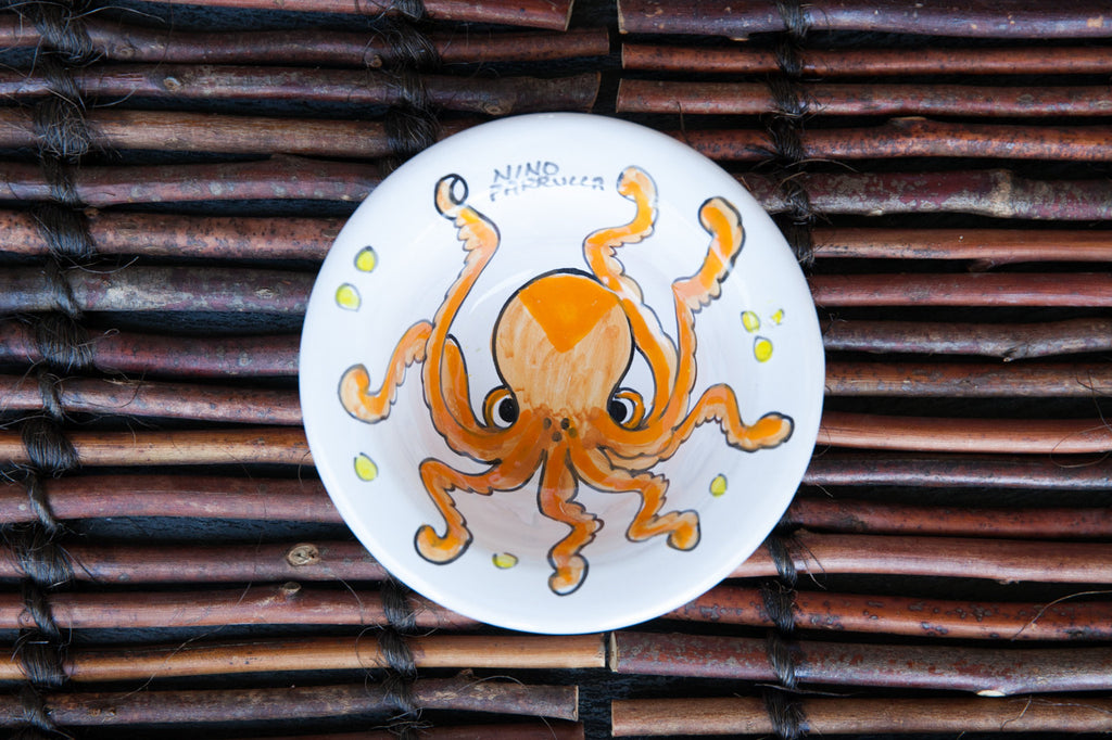 Octo - Hand-Painted Ceramic Side Bowl