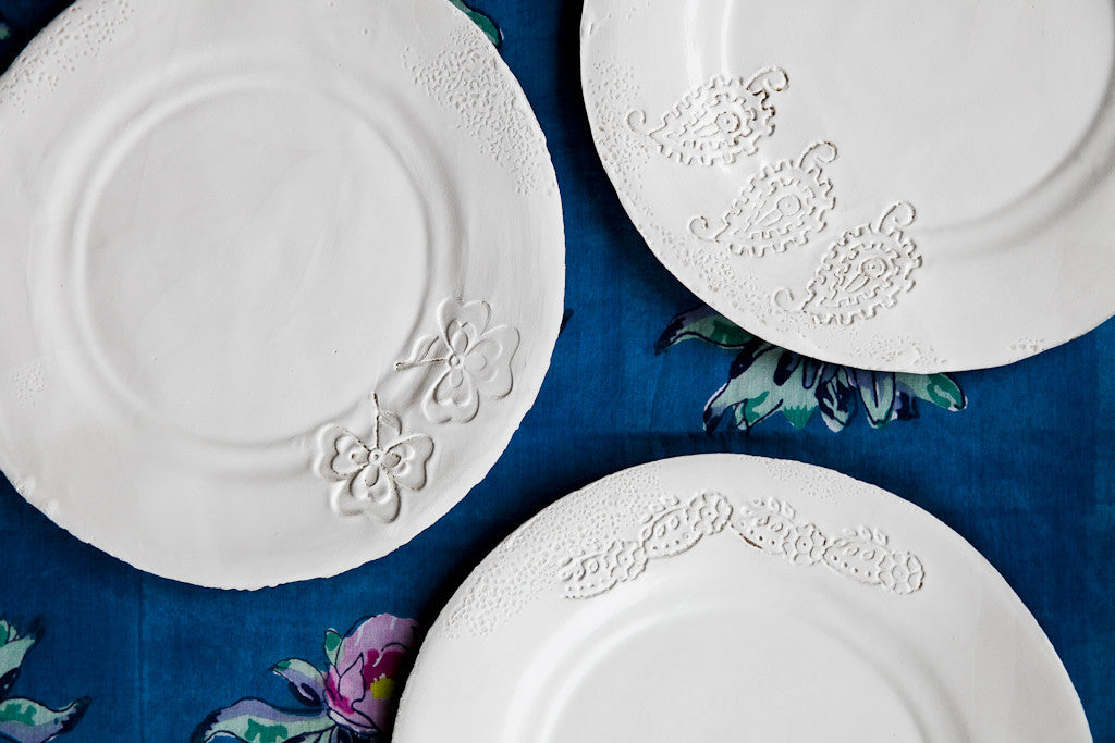 Foglia Leaf Handmade Porcelain Dinner Sets by Atelier 13