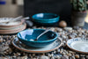 Arabesque 3-Piece Dinner Set with charming blue-floral motif