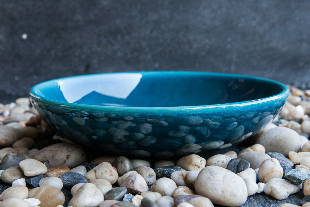 Arabesque turquoise soup and pasta bowl