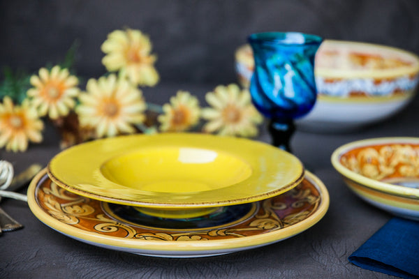 Handmade Ceramic Soup u0026 Pasta Bowl Made in Italy & Retro and Vintage Style Dinner Plates Bowls and Dinnerware u2013 DishesOnly