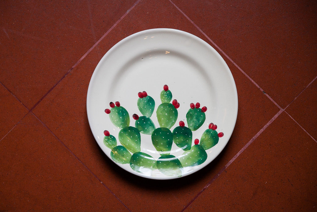 Cactus Fall Inspired Handmade Dinner Plates Made In Italy